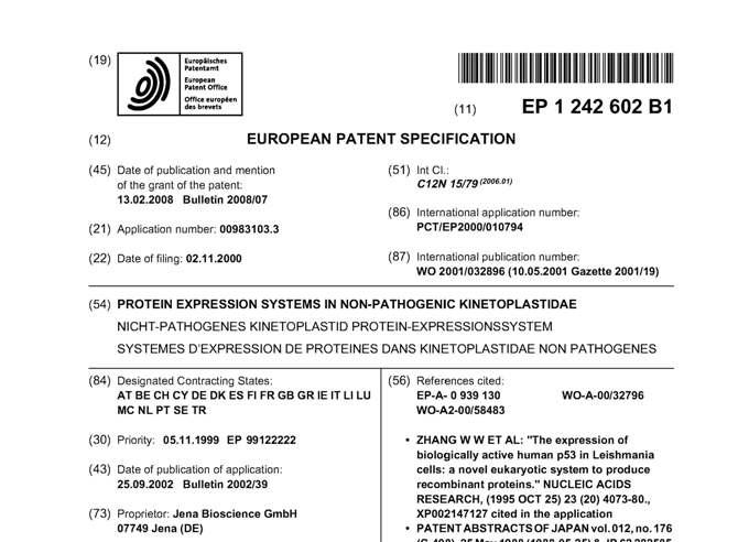 LEXSY Patent page 1