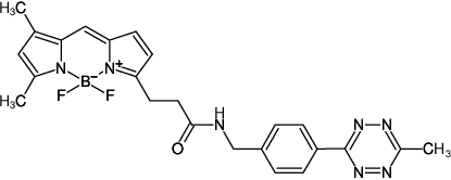 Structural formula of 6-Methyl-Tetrazine-BDP-FL (also known as 6-Methyl-Tetrazine-BODIPY® FL, (4-(6-Methyl-1,2,4,5-tetrazin-3-yl)phenyl)methanamine - BDP-FL)
