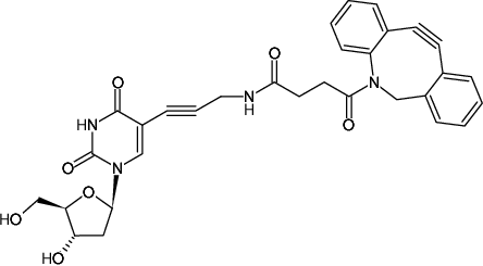 Structural formula of 5-Dibenzylcyclooctyne-2'-deoxyuridine (5-DBCO-dU)