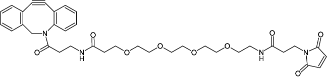 Structural formula of DBCO-PEG4-Maleimide