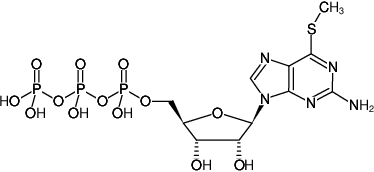 Structural formula of 6-Methylthio-GTP (6-Methylthioguanosine-5'-triphosphate, Sodium salt)