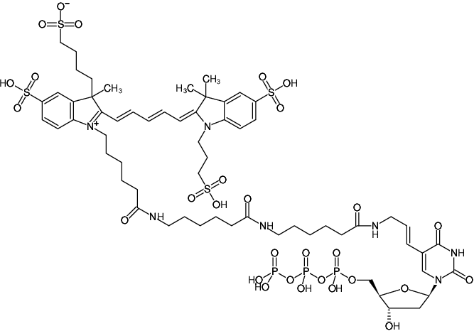 Structural formula of AF647 NT Labeling Kit (Red fluorescent DNA labeling by nick translation)