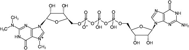 Structural formula of m32.2.7GP3G (Trimethylated Cap Analog) (m32,2,7G(5')ppp(5')G)