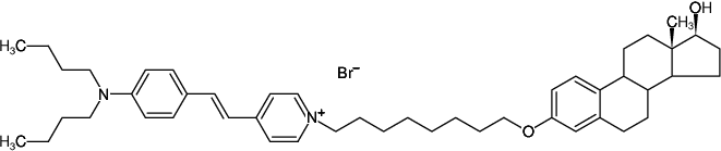 Structural formula of Estradiol Glow (Fluorescently labeled Estradiol)