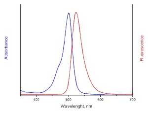 Excitation and Emission spectrum of AF488