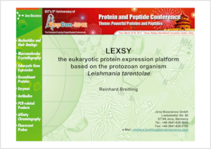 Preview LEXSY talk at PepCon 2012 Beijing