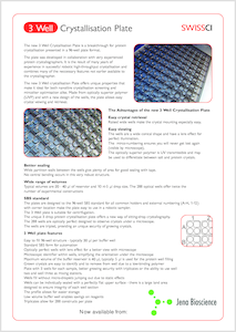 Preview Advantages of the 3 Well Crystallization Plate