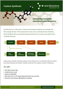 Preview More information about Jena Bioscience's Custom Synthesis service