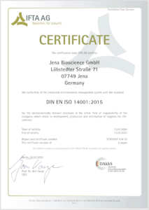 Preview ISO 14001 Certificate (English version)