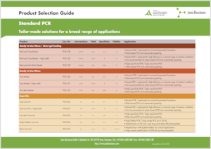 Preview Standard PCR - Product Selection Guide