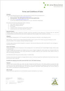 Preview Terms and Conditions of Sales - PDF version